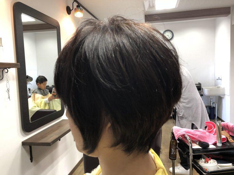 くせ毛はショートが楽ですね。 阿南市羽ノ浦 美容室 アーティー