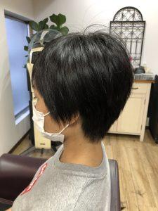 阿南市 羽ノ浦 美容室 アーティ 自然な縮毛矯正 30代ショートスタイル