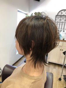 阿南市 羽ノ浦 美容室 アーティ ウルフカット トップにボリューム 30代スタイル