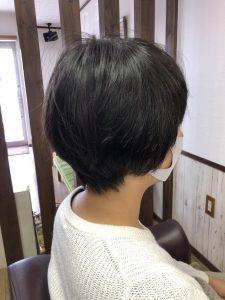 阿南市 羽ノ浦 美容室 アーティ お手入れが簡単ショート 30代スタイル