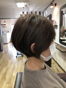 阿南市 羽ノ浦 美容室 アーティ くせ毛 お手入れ簡単スタイル ショートスタイル 大人女性 ヘアスタイル
