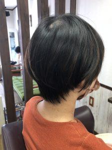 阿南市 羽ノ浦 美容室 アーティ お手入れ簡単 ショート 30代スタイル